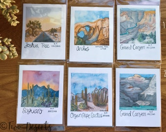 Choose Your Own Set- National Parks Watercolor Art Gift Set- Blank Notecards- Southwest, Northwest, Southeast, Northeast, Midwest