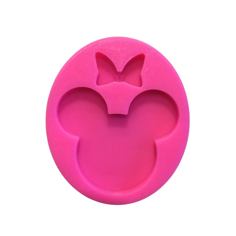 Epoxy Resin Supplies Resin Craft Molds Mouse Head with Bow Resin Mold Shiny Mold Silicone Molds for Epoxy Crafts