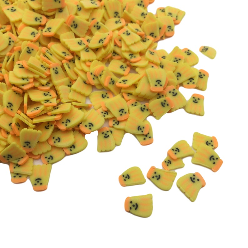 Clay Slices for Nail Art and Slime Fake Sprinkles Fruit Sprinkles BANANAS SLICE Polymer Clay Slices