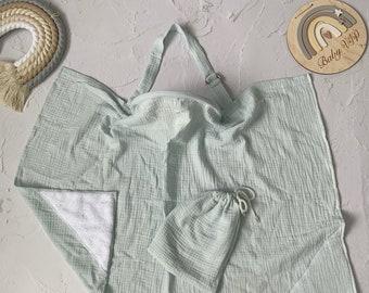 Muslin Nursing Cover Cotton Apron Rainbow Muslin Breastfeeding Cover