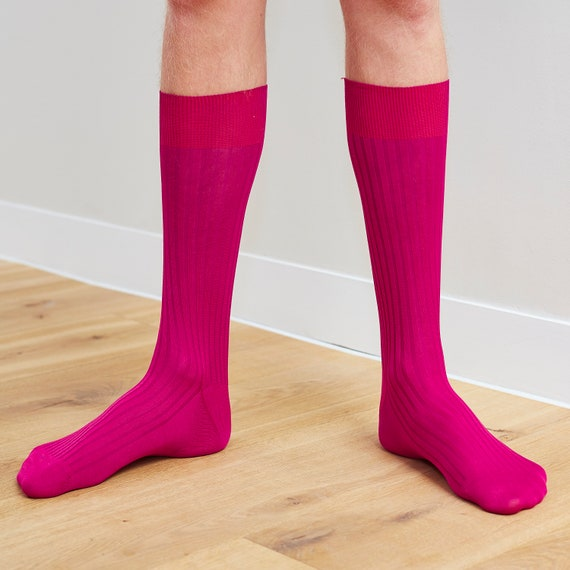 Mens aqua green egyptian cotton luxury ribbed socks