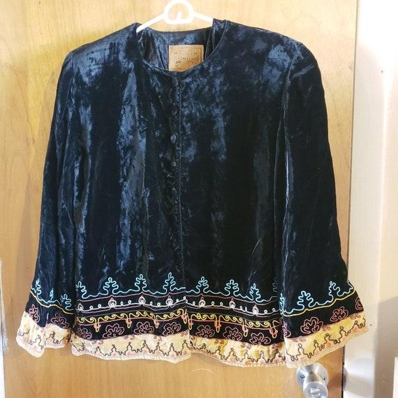 Vintage Double D Ranch velvet embroidered jacket