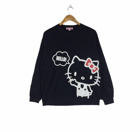Vintage Hello Kitty Sweatshirt Hoodie Cartoon Jump