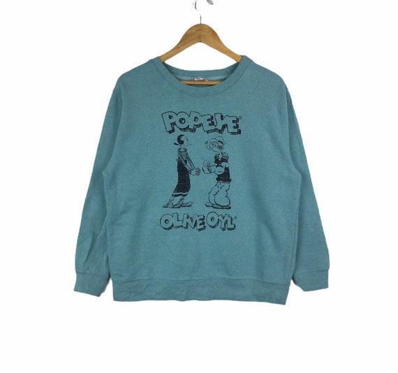 Popeye Sweatshirt Cartoon Casual Jumper Streetwear