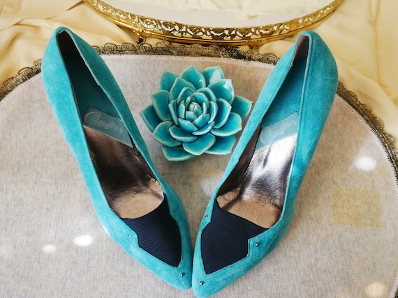 Candies Brand Retro Turquoise Fringe Moccasins Ladies Size 6 12