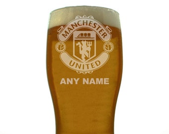 Fulham Etched Engraved Beer Pint Glass