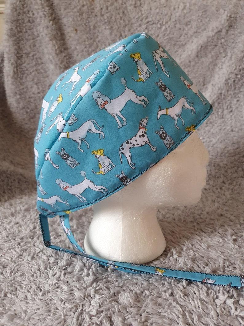 Blue Dog Theatre Hat  Scrub Cap.