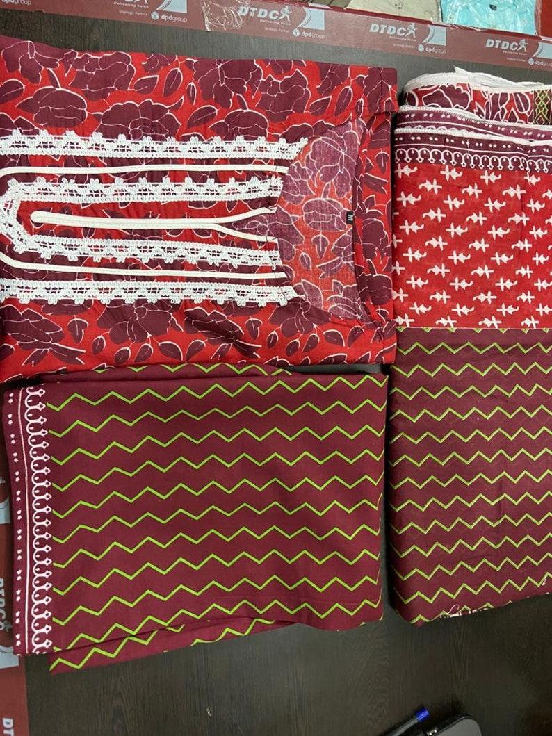 FABRIC COTTON Indian Traditional Designer Beautiful  Printed Kurti With Palazzo Dupatta Set For Girls /& Women kurti dress kurti kurta