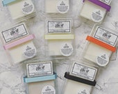 Luxury soy wax clamshells - Highly scented soy wax melts - 6 soy wax cubes - strong scents