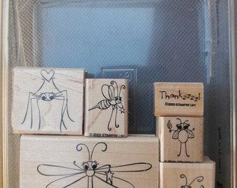 TINY BUMBLE BEE BRADS Summer Bugs Spring Scrapbooking Card Making Stamping
