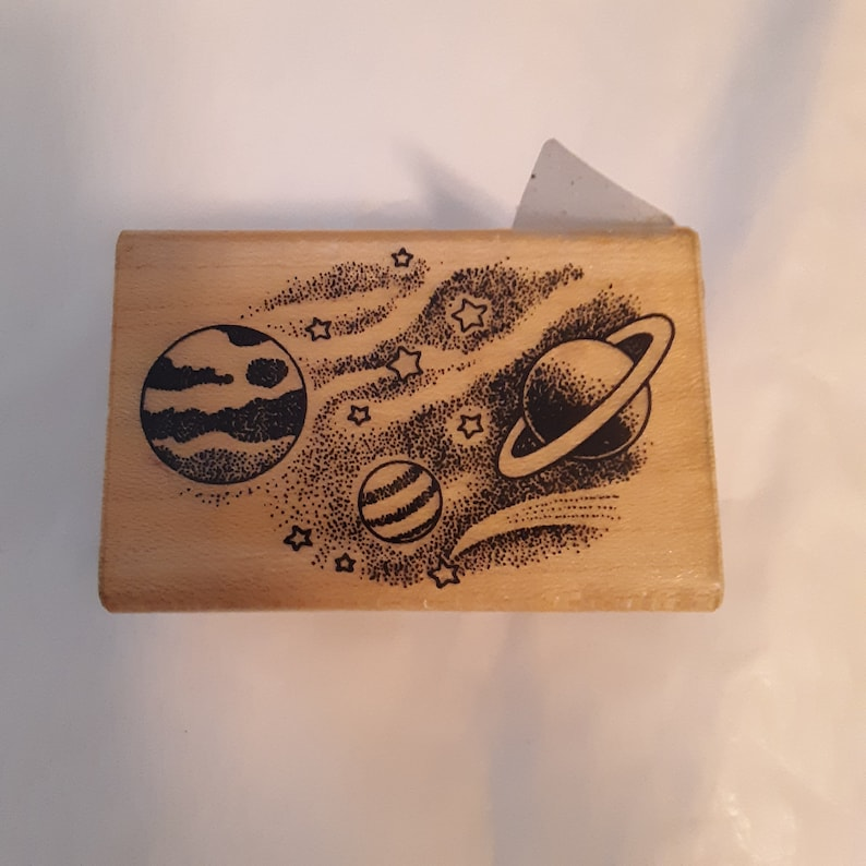 Hero Arts Rubber Stamp; Celestial Planets; C322;  1988