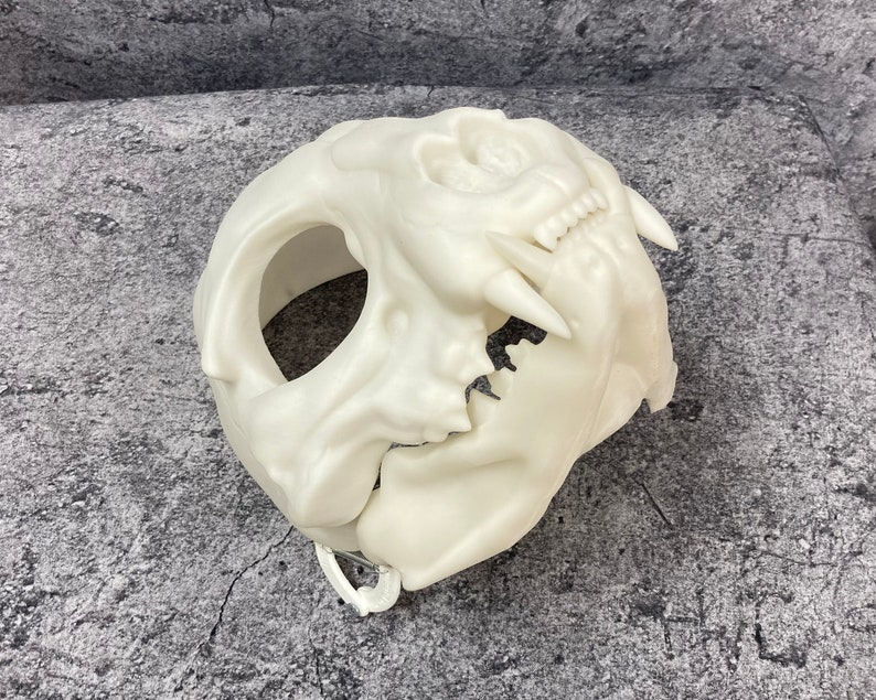 3D printed Skull cat head base
