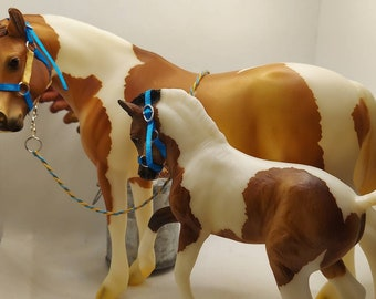 Mare and Foal Halter & Lead Rope Set for Traditional Breyer Horses