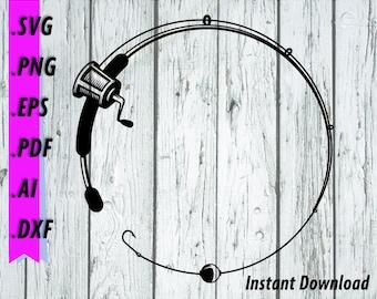 Download Fishing Rod Svg Etsy