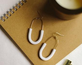 MODERN HOOPS // everyday polymer clay earrings
