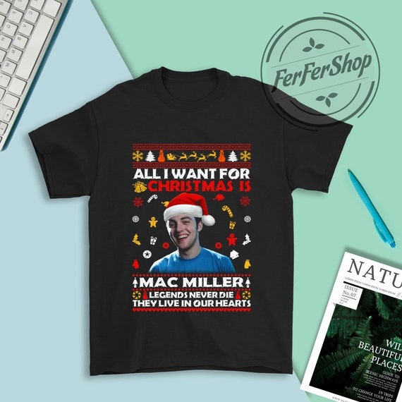Mac Miller t shirt Funny Birthday Cotton Tee Vintage Gift For Men Women