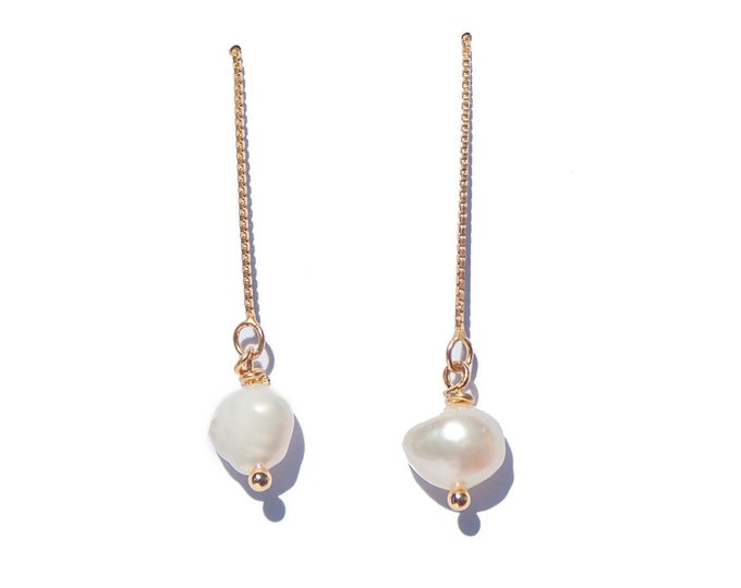 BAROQUE PEARL THREADERS