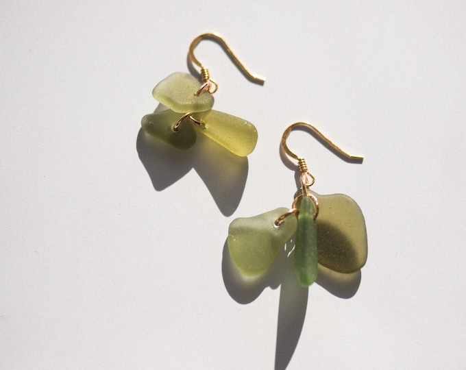 SEAGLASS CLUSTER EARRINGS