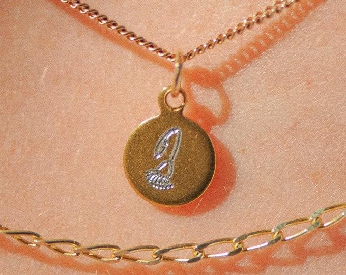 Round Birthflower Necklace