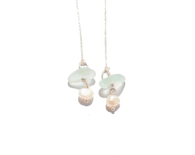 pearl & seaglass threaders