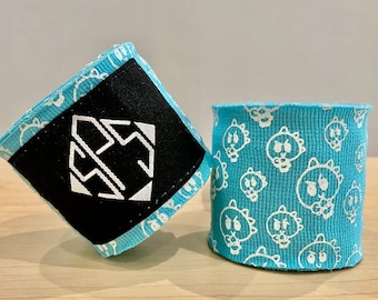 """Sucker Punch Squad Boxing MMA Hand Wraps 180"""" - Dinosaur - Teal"""