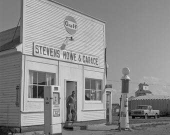 Vintage Gas Pump  fine art, black and white photograph, wall art, unframed