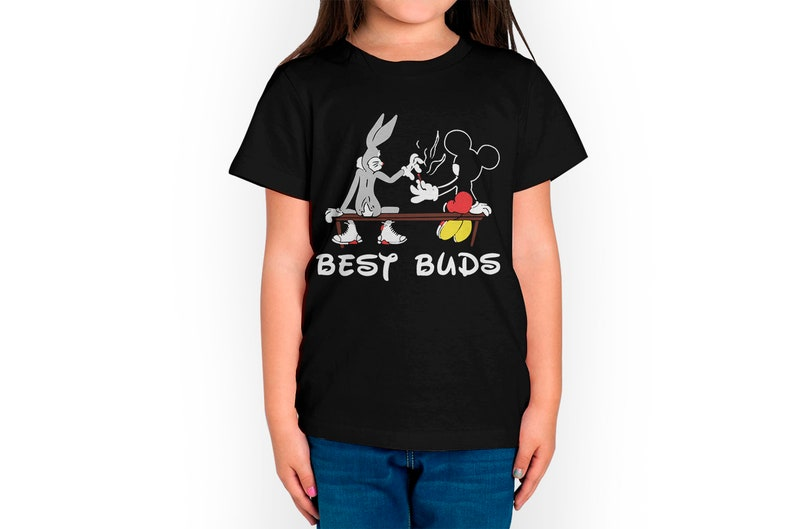Toddler Tee 100/% Cotton Toddler T-Shirt Kid Tee Kid T Shirt Bugs Bunny and Mickey Mouse Best Friends Kids T-Shirt Kid/'s Birthday