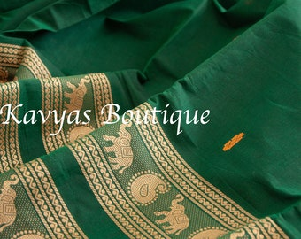 Kavya/'s Boutique Saree Ethnic wear Sarees for women Sacramento Green Metallic Linen Blend Saree USA Ships from Utah