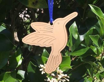 Hummingbird ornament solid HARDWOOD basswood DISCOUNTS for multiple ornaments wood wooden bird watcher laser cut laser engraved gift decor