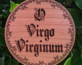 O ANTIPHONS Add-on O Virgo Virginum English large wood ornament Catholic Advent Gift Greater Ferias wooden TLM Ordinariate Anglican