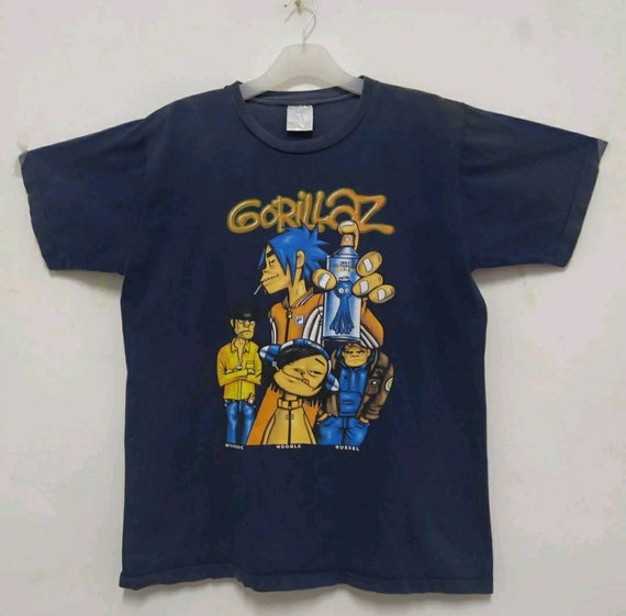 GORILLAZ Vintage 2001 Bootleg Gorillaz T shirt. Me