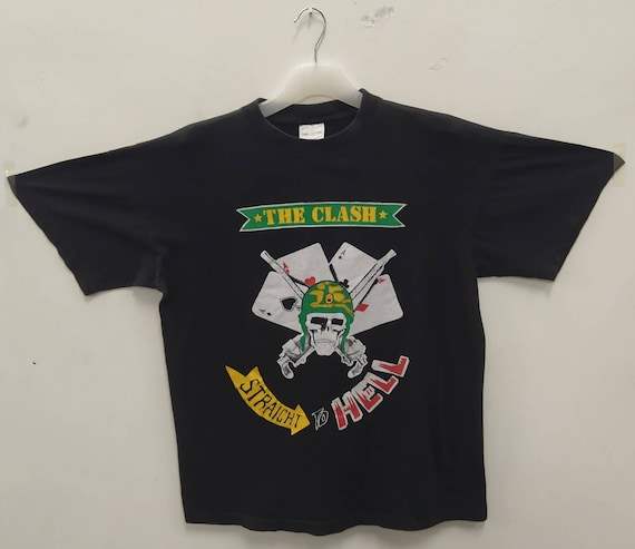 THE CLASH Vintage 90s Straight To Hell T shirt. La