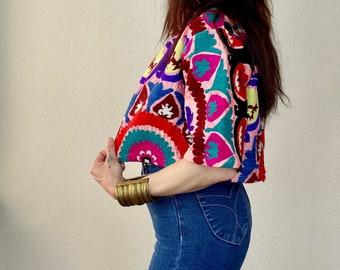 1970s Uzbek embroidered jacket - Size S
