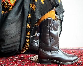 1970s Burgundy Laredo western boots  - size 39 Euro / 8,5 US