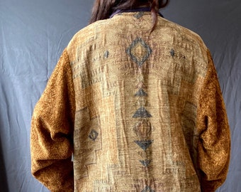 SOLD!! Don't buy! Incredible 1990s reversible southwest tapestry jacket - Size M/L