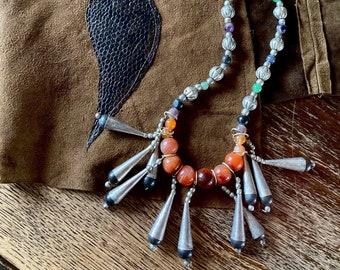 1970s boho tassel necklace
