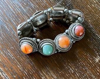 1970s kuchi bracelet with gemstones.