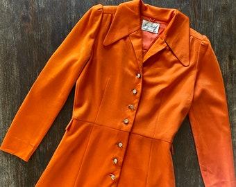 1960s Japanese designer Jun Ashida dress - Size XS/S