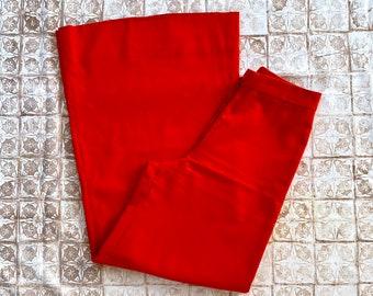 1970s flared orange red pants - Size XXS