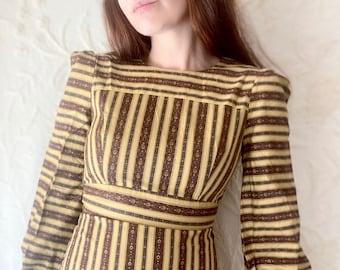 1970s liberty print prairie dress - Size XXS/XS