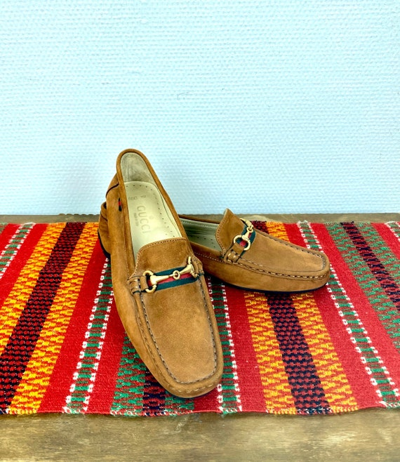 Gucci suede horsebit loafers - size 39 Euro / 8,5