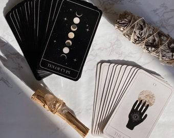 Luna Soleil Tarot Deck   78 Cards   Black Gold Celestial Dreamy Moon Stars Magic Oracle Beginner's Divination Tools Complete Full Card Deck