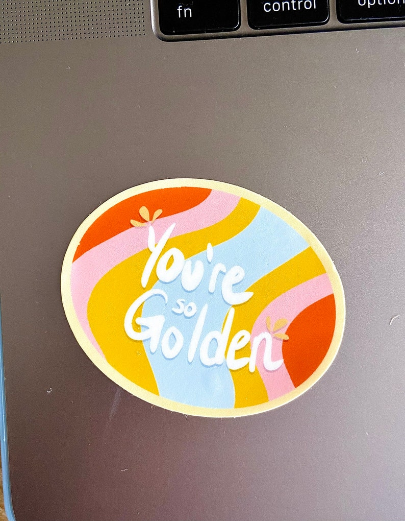 Gifts for Her Retro Style So Golden Sticker Valentines Gift Music Lover Sticker Gifts for Him