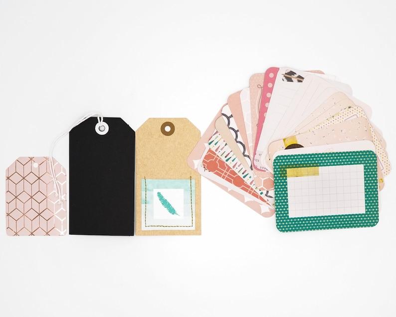 Tickled Pink Album Kit scrapbook kit, pocket album kit, scrapbook supplies, ephemera, girl scrapbook, love scrapbook, family album 4x6