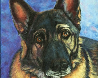 Dog Pet Portrait - Every dog has a story! Immortalize the one you love with a hand painted portrait in acrylic on gallery wrapped canvas