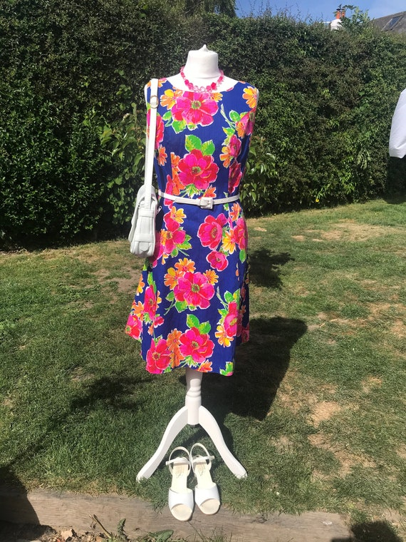 Vintage Dress Walden Classic Dress Blue Dress Made in the USA