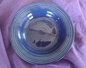 Vintage Cobalt Blue Fiestaware Soup Bowl 8.25 quot