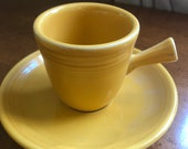 RETIRED FIESTA WARE Set of Two Demi tasse cups and saucers in Retired Marigold