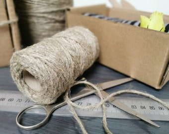 6 mm Elegant Linen Rope for Jewelry 510 meters = 5,511,1 yards Natural Grey Linen Rope for Crafts Jewellery Decorations