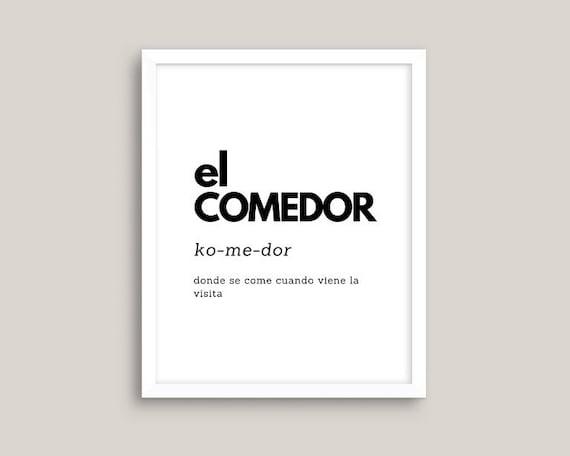 El Comedor Dining Room Definition Spanish Quotes Spanish Etsy